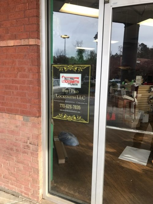 Best Pro Locksmith Atlanta Store Front Signage